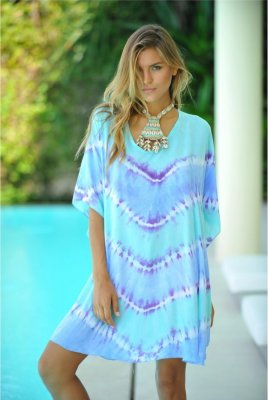 Hot Lava Poncho Blue Wave Low Back